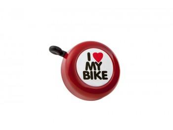 """Sonnette """"I love my bike"""" - Rouge"""