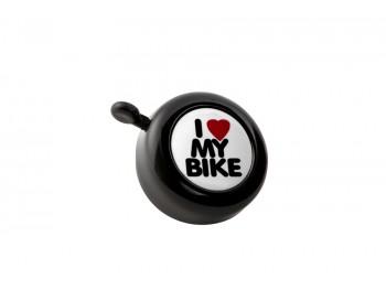 """Sonnette """"I love my bike"""" - Noire"""