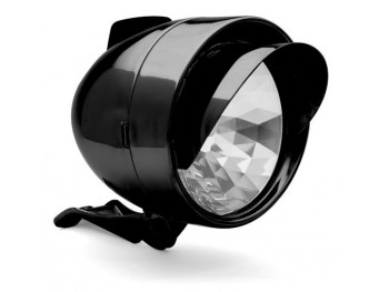 Bullet front light - Noir